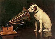 His Master's Voice - RCA dog