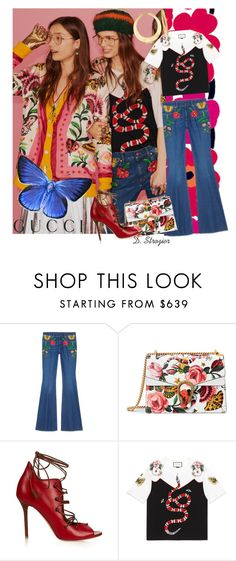"""""""Presenting the Gucci Garden Exclusive Collection: Contest Entry"""" by deborah-strozier ❤ liked on Polyvore featuring Avon, Gucci, Malone Souliers, Ross-Simons and gucci"""