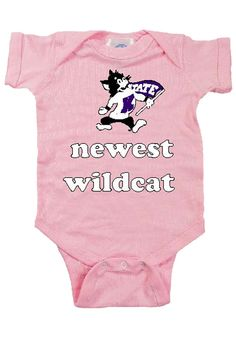 Kansas State Wildcats Infant Pink Newest Wildcat Onesie - for the tiniest Wildcat in your life!