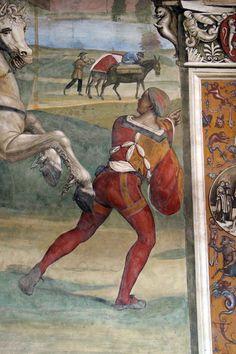 Storie di s. benedetto, 01 sodoma - Come Benedetto lascia la casa paterna e recasi a studio a Roma 04.JPG