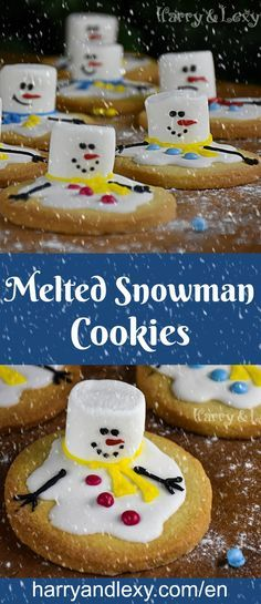 Christmas - the most festive time of the year is coming! These adorable Melted Snowman Cookies are the perfect Christmas recipe to adorn the table.