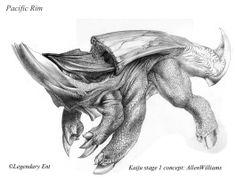 Allen Williams Studio - Kaiju Design for Pacific Rim Pacific Rim Kaiju, Alien Concept Art, Concept Art World, Alien Creatures, Fantasy Creatures, Creature Feature, Creature Design, Wayne Barlowe, Creature Concept