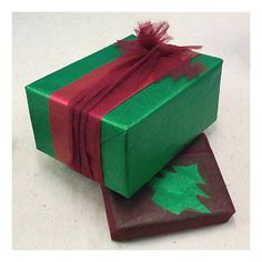 Christmas Wrap Idea with metallic paper and Silk Gauze paper