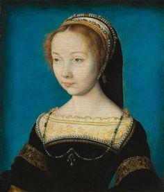 Corneille de Lyon (1500-1575, Netherlands) | Portrait of a Woman, ca. 1540