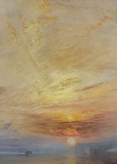 J. M. W. Turner, The Fighting Temeraire (detail), 1839 (x)  Favorite painting by my favorite artist
