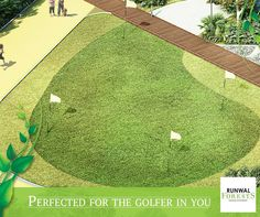 Grab your golf club and head over to flaunt your golfing skills at the Putting greens at Runwal Forests.