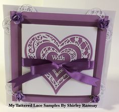 Tattered Lace Cards, Shaped Cards, Heart Cards, Tatting, Paisley, Valentines Day, Projects To Try, Anniversary, Romance