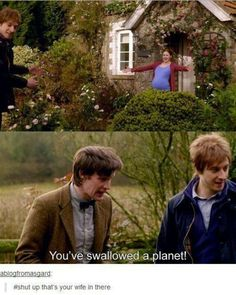 You've swallowed a planet shut up that's your wife in there | Doctor Who