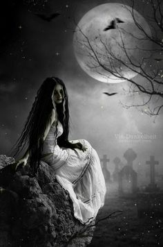 ideas for gothic fantasy art mystic witches Dark Gothic Art, Gothic Fantasy Art, Dark Art, Gothic Artwork, Gothic Horror, Horror Art, Arte Obscura, Goth Art, Beautiful Moon