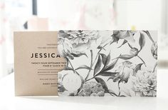 Secret Diary | Lively Patterned Pocket Invites | Dahlia Pocket