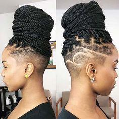 Half head crochet braids 100 crochet box braids with loops crochet twists braid braided individual Box Braids Hairstyles, Shaved Side Hairstyles, Braided Ponytail Hairstyles, Braided Hairstyles For Black Women, My Hairstyle, Undercut Hairstyles, Braids For Black Women, Afro Hair Undercut, Wedding Hairstyles