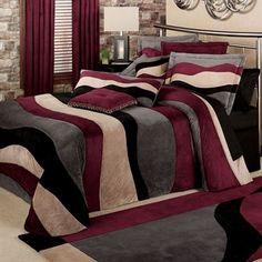 Apex Wavy Stripe Faux Suede Oversized Bedspread