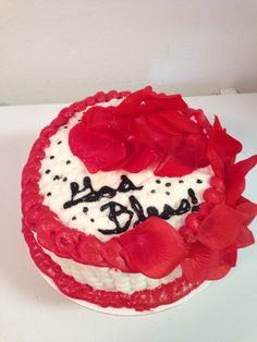 Red cake! By Wildy's Creations!!!