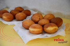 Recept na nejlepší koblihy – Príma receptář.cz Nutella, Muffin, Peach, Fruit, Breakfast, Food, Morning Coffee, Essen, Muffins