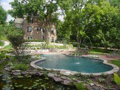 freeform pool in natural pond setting | #BarringtonPools