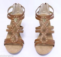 Style-Co-Cassadee-Womens-Cajun-Spice-Wedges-Shoes-Sandals-Size-10M-W385