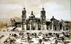 La Catedral Metropolitana de la Ciudad de México.  ( 1930-1950 )