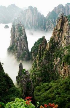Huangshan Mountains, China (inspiration for the Hallelujah Mountains in Avatar). Climbed part of it when I was 5 :)
