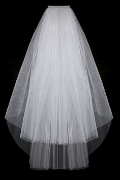 Fashion Simple Cheap White Ivory Wedding Veil Satin Edge Two Layers Wedding Accessory Bridal Veil Free Shipping #Affiliate