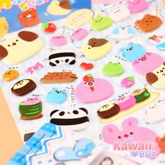 ❤ The Chubby Animals on this sticker sheet are still feeling the effects of holiday overeating. See what else what included in last month's box ► http://www.kawaiibox.com/kawaii-box-december-2015/