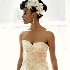 Wedding Hairstyles Updo Bridal Hairstyles For Naturalistas - 19 Blushing Brides Serving The Ultimate Natural Hair Inspo - Because everyone wants to slay on their big day. Natural Hair Wedding, Wedding Hair And Makeup, Natural Hair Brides, Crown Hairstyles, Bride Hairstyles, Black Hairstyles, Curly Hair Styles, Natural Hair Styles, Natural Beauty