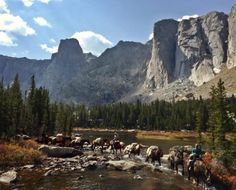 Allen's Diamond 4 Ranch is located in the Wind River Mountains and offers trail riding, fly fishing, pack trips, and hunting in Shoshone National Forest