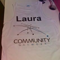 Laura's London Marathon running vest.