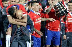 Jorge Sampaoli confirmó que seguirá en la selección chilena tras conquistar la Copa América. July 09, 2015.
