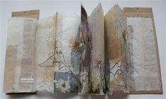 herbarium Concertina Book, Art Du Papier, Stitch Book, Nature Journal, Sketchbook Inspiration, Textile Artists, Collages, Collage Art, Book Binding
