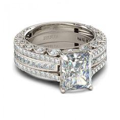 Jeulia Interchangeable Radiant Cut Created White Sapphire Wedding Set 4.63CT- Jeulia Jewelry