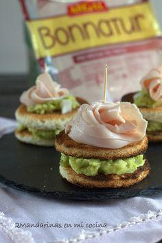 2Mandarinas en mi cocina: Montaditos de pavo con guacamole