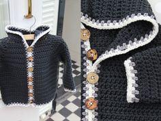 Duuc Hooded #Crochet Baby Jacket
