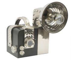 Lichfield Camera Lamp :: Buy from Barker and Stonehouse on The UK High Street Lampe Metal, Barker And Stonehouse, Retro Camera, Retro Stil, Blitz, Wholesale Furniture, Modern Wall Decor, Modern Sculpture, Light Fittings