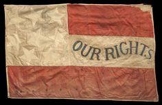First National Confederate Flag captured by the 4th Minnesota Regiment Volunteer Infantry at the Battle of Jackson, Mississippi (obverse side).