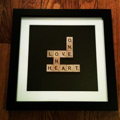 Scrabble tiles framed (Bob Marley lyric)   Martha Stewart