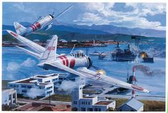 Las Cosicas del Panzer Pearl Harbor, ataque al USS Nevada Pearl Harbor 1941, Pearl Harbor Attack, Ww2 Aircraft, Military Aircraft, In The Air Tonight, Imperial Japanese Navy, Air Fighter, Airplane Art, Ww2 Planes