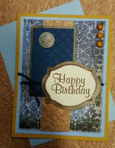 Birthday Card for him (Buttons & Gems vary in color & size) in Crafts, Handcrafted & Finished Pieces, Greeting Cards & Gift Tags | eBay