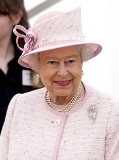Queen Elizabeth, April 30, 2014 in Angela Kelly | Royal Hats....The Queen and Prince Philip visits in South Wales... April 30, 2014