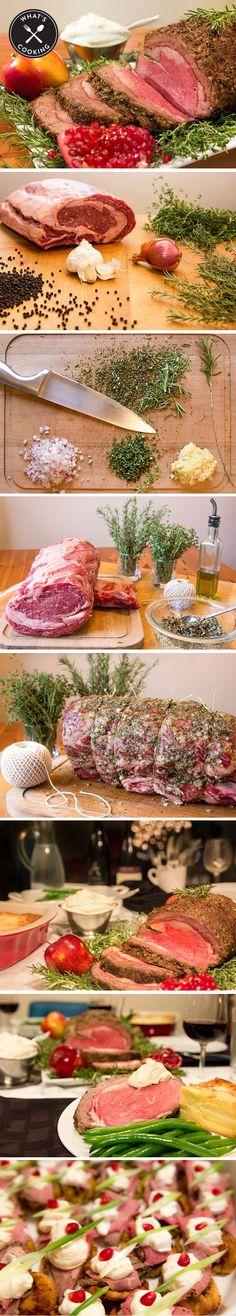 Recipe: Prime Rib Roast with Garlic & Rosemary via Nordstrom Entertaining at Home Cookbook