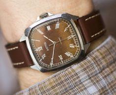 Men's watch VostokEast chunky men wrist watch square by SovietEra