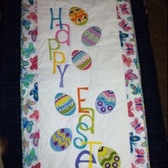 Happy Easter quilt wallhanging