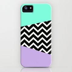 Tiffany Mint Lavender Chevron iPhone case iPhone & iPod Case