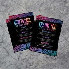 Thank You Cards Care Cards Business Cards Cards by InDesignStore