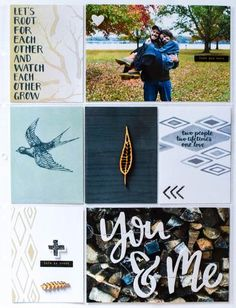 Rachel Stewart with the Rooted Love collection in her 9x12 Project Life album