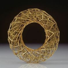 Giovanni Corvaja: Bracelet, 2011  18ct gold, black glass enamel
