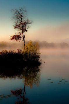 October Mourning by Michael Bufis, on Onota Lake in Pittsfield, Massachusetts