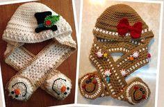 Ravelry: Hooded Cookie Scarves pattern by Heidi Yates.