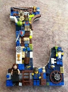 Kid's room letters with Legos