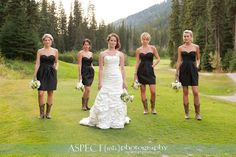 bridesmaid dress with cowgirl boots   bridesmaids in cowgirl boots love the cowgirl boots