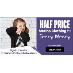50% OFF Sale on Teeny Weeny Merino @ Farmers - Bargain Bro